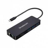 Simplecom USB-C 8-in-1 Multiport